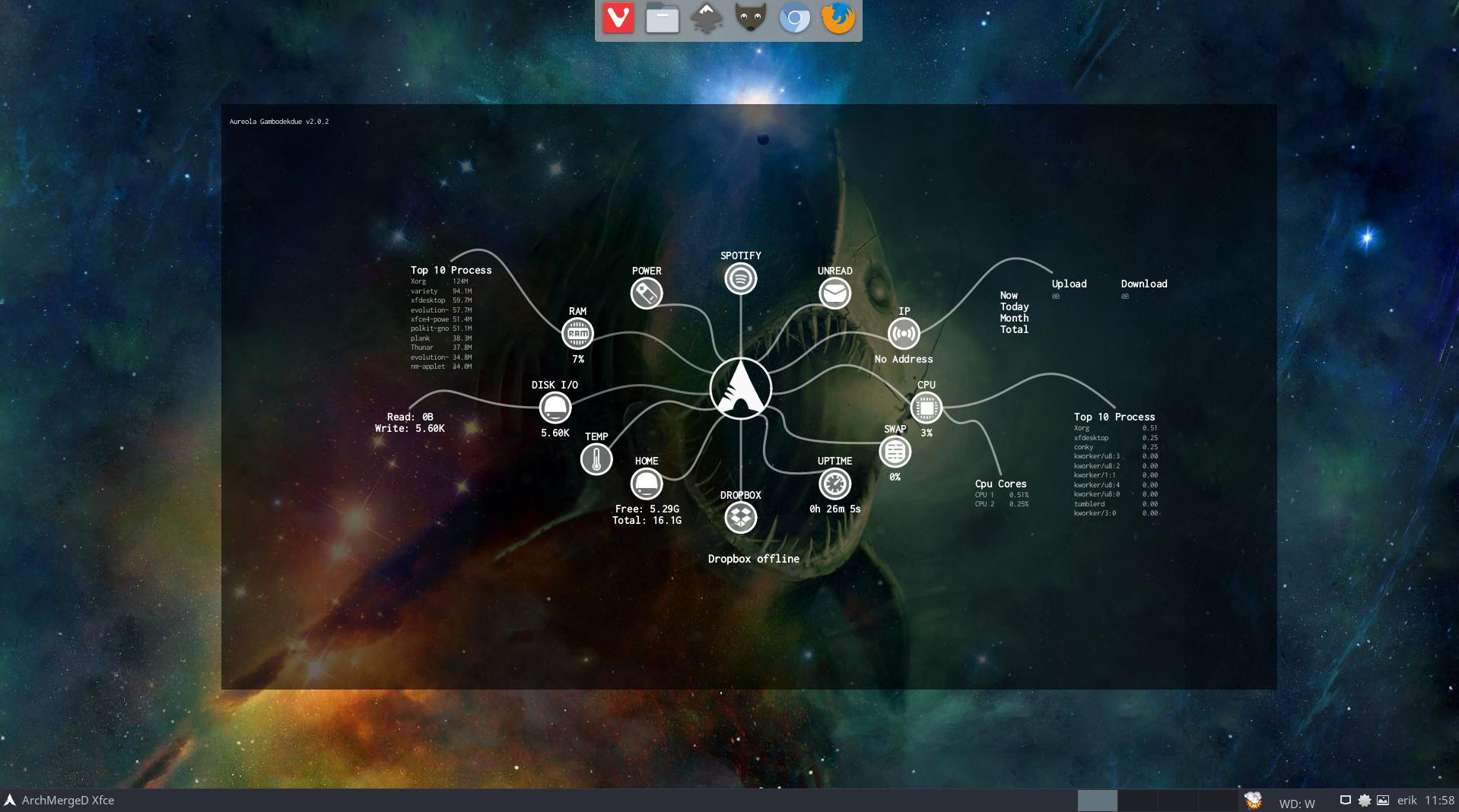 13 – installing the aureola conky's on any desktop