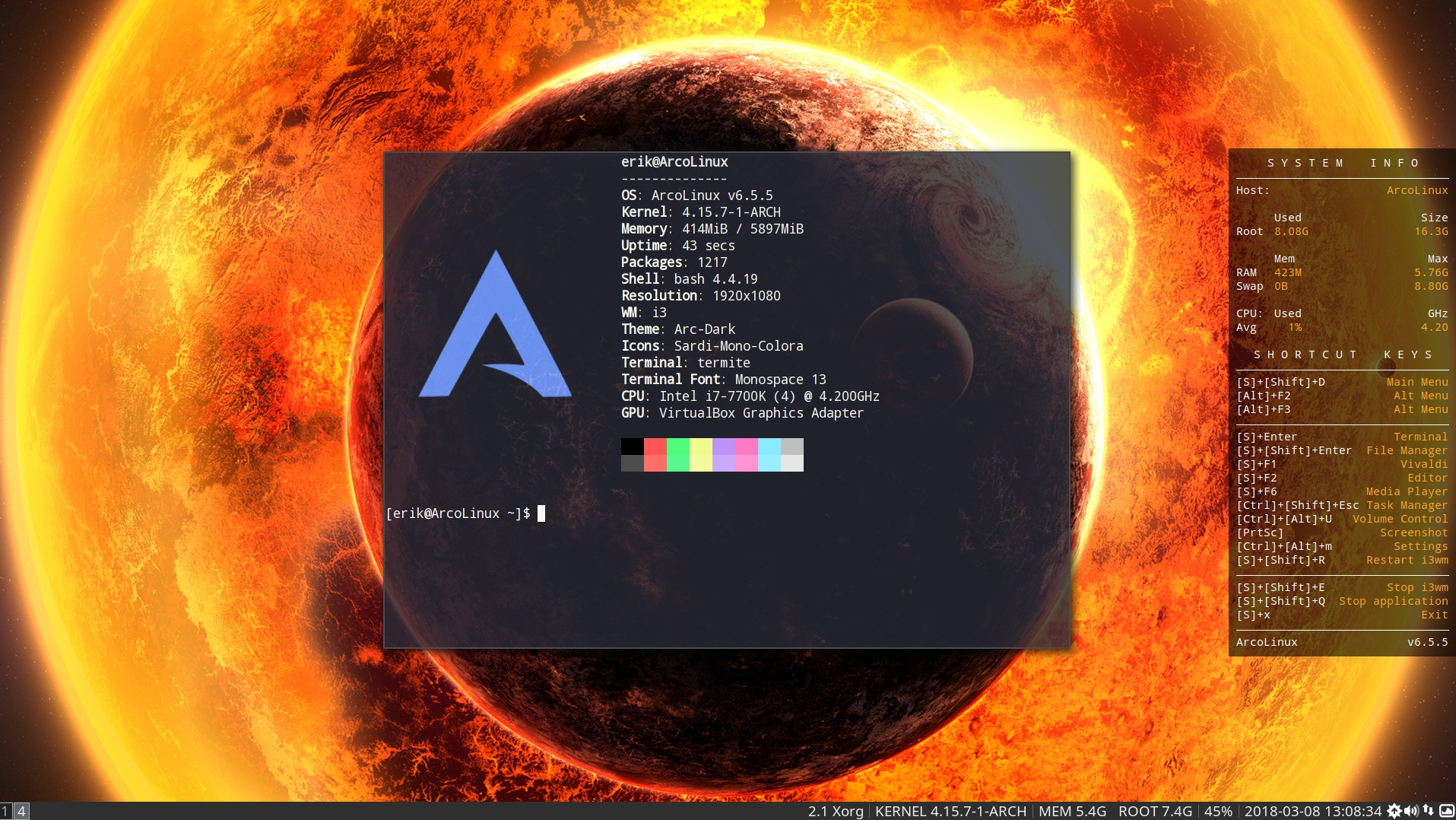 1 –  Installation of ArcoLinuxD i3