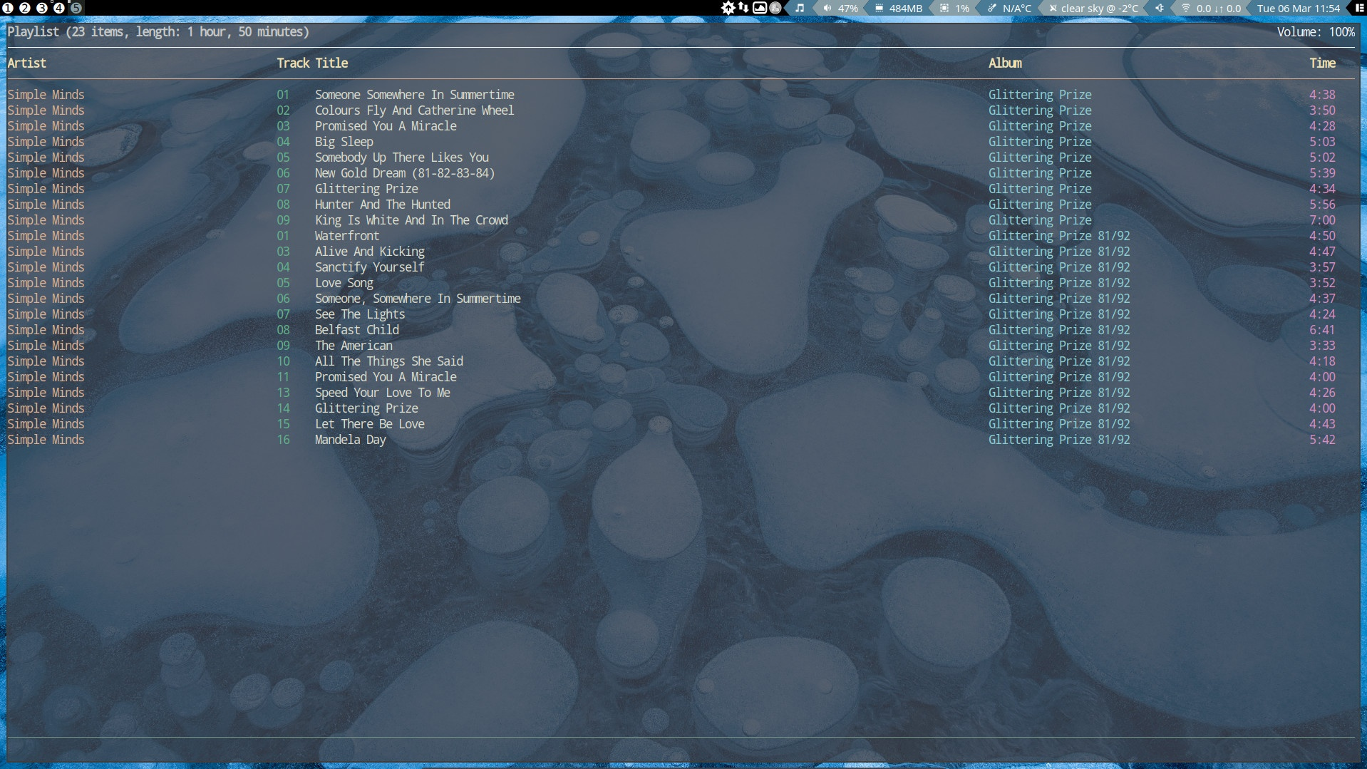 9 Playing music in Awesome with the ncmpcpp widget