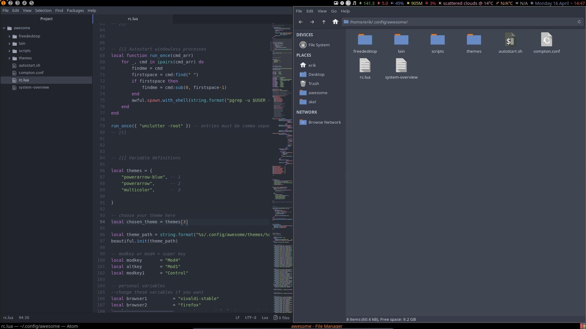 Installation of Awesome on Arch Linux Phase 4
