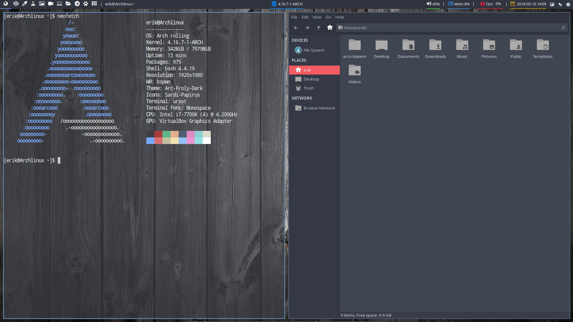 Installation of Bspwm on Arch Linux Phase 4