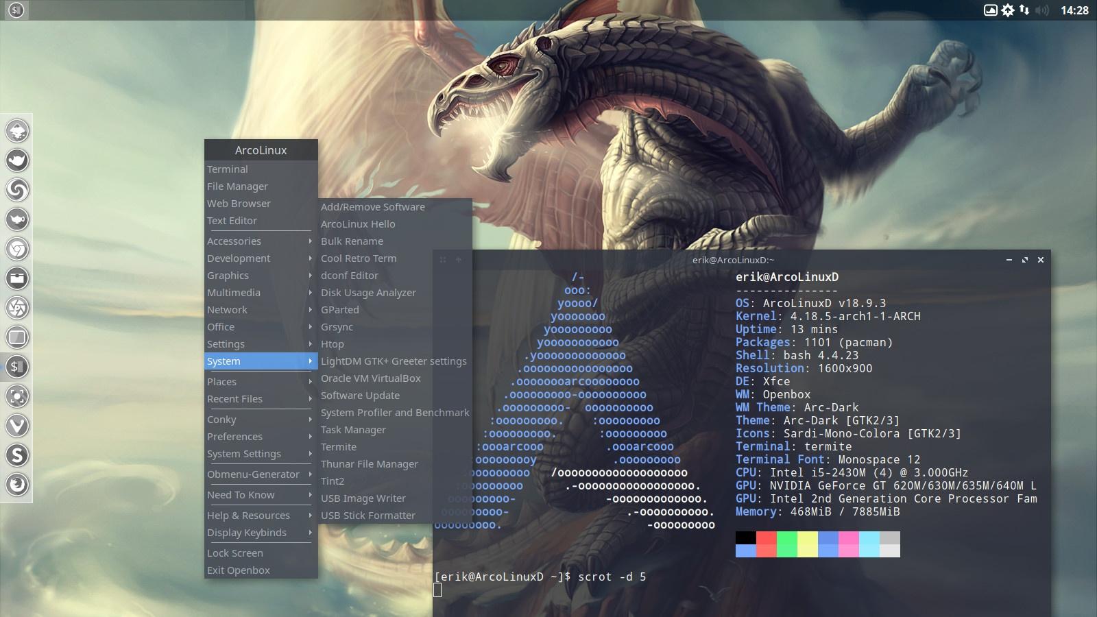 1 –  Installation of ArcoLinuxD Openbox