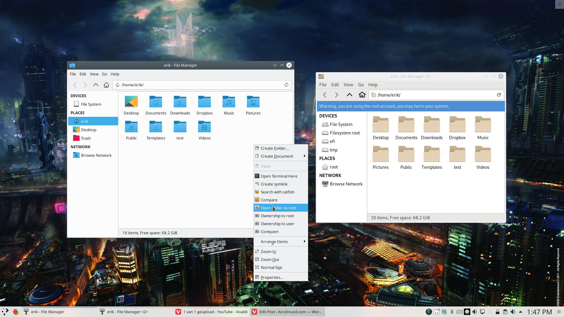 28 How to open a folder as root on Plasma