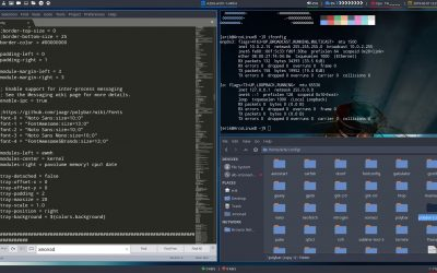 18 how to get an extra polybar in Xmonad, tweaking polybar modules and more