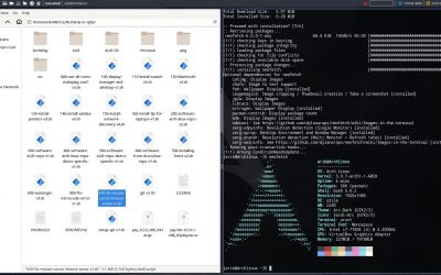 All in one Arch Linux installation UEFI with Qtile