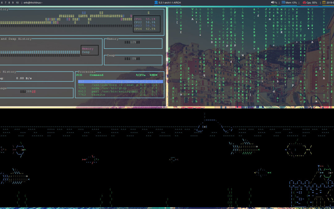 All in one Arch Linux installation BIOS with Herbstluftwm