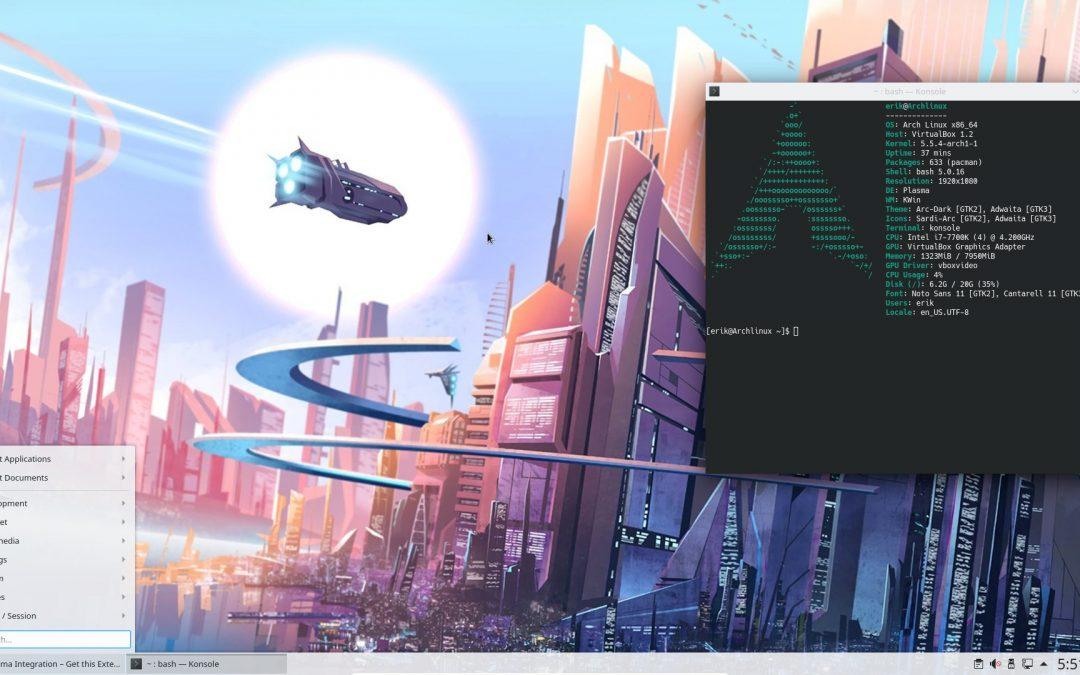 All in one Arch Linux installation UEFI with Plasma – ArcoLinux Tweak Tool – AUR Yay – GPG keys