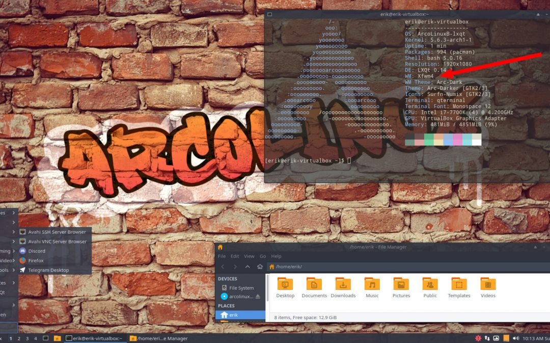 9 Switching the windowmanager from Openbox to Xfwm4