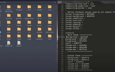 3 Ricing spectrwm – polybar – neofetch – ATT – icons – wallpaper