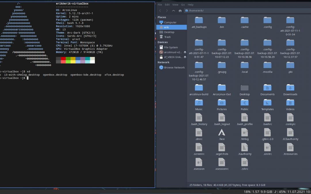 ATT – Start with Xfce4 and add openbox and i3 to your system